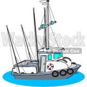 Royalty-Free (RF) Clipart Illustration of a Trawler Fishing Boat © djart #226106