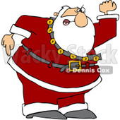 Royalty-Free (RF) Clipart Illustration of a Santa Angrily Waving His Fist © Dennis Cox #226107