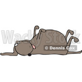 Royalty-Free (RF) Clipart Illustration of a Stiff, Dead Dog With His Legs Up In The Air © djart #229151