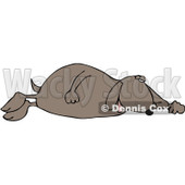 Royalty-Free (RF) Clipart Illustration of a Tired Dog Sleeping On His Side © Dennis Cox #229158
