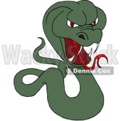 Royalty-Free (RF) Clipart Illustration of a Red Eyed Green Cobra © djart #229178