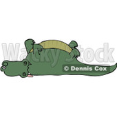 Royalty-Free (RF) Clipart Illustration of a Dead Alligator With His Legs Up © djart #231468