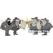 Royalty-Free (RF) Clipart Illustration of a Rabbi Man With A Cane And Bible © Dennis Cox #231470