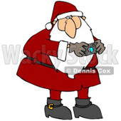Clipart Illustration of a Festive Santa Claus In A Red Suit, Taking Pictures With A Camera © djart #23815