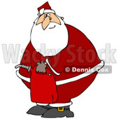 Clipart Illustration of Santa Claus In His Suit, Carrying A Gas Can After Running Out Of Gasoline © djart #27016