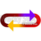 Clipart Illustration of an Oval Of Gradient Purple, Red, And Yellow Arrows Moving In A Clockwise Motion © djart #28787