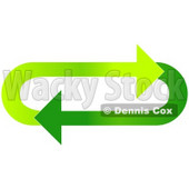 Clipart Illustration of an Oval Of Gradient Light And Dark Green Arrows Moving In A Clockwise Motion © djart #28788
