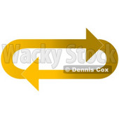 Clipart Illustration of an Oval Of Gradient Light And Dark Yellow Arrows Moving In A Clockwise Motion © Dennis Cox #28797