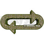 Clipart Illustration of an Oval Of Mossy Stone Path Arrows Moving In A Clockwise Motion © Dennis Cox #28803