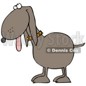 Clipart Illustration of a Happy Brown Mutt Dog Hanging His Tongue Out And Looking Upwards © djart #28954