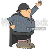 Clipart Illustration of a Gas Man Super Hero Technician Wearing A Mask And Cape © Dennis Cox #32295