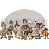 Thanksgiving Feast Clipart © Dennis Cox #3454