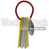 Clipart Illustration of a Lucky Rabbits Foot And Keys On A Ring © djart #37000