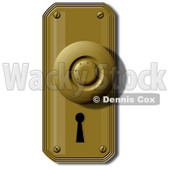Clipart Illustration of a Door Knob And Skeleton Keyhole © djart #37001