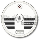 Clipart Illustration of a Test Button And Speakers On A Smoke Alarm © Dennis Cox #37005