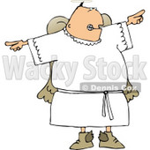 Angry Male Angel Pointing Fingers Clipart © Dennis Cox #4112