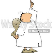 Male Angel with Wings Pointing Up Towards the Sky Clipart © djart #4113