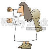 Female Angel Yelling Clipart © Dennis Cox #4120
