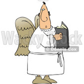 Male Angel Holding a Religious Book Clipart © Dennis Cox #4122