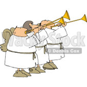Three Angels Blowing Horns Clipart © Dennis Cox #4124