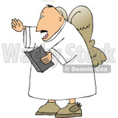 Male Angel Preaching from the Bible Clipart © Dennis Cox #4125