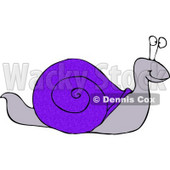 Snail with a Blue Shell Clipart © Dennis Cox #4128