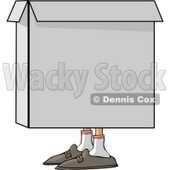 Person Hiding In a Box Clipart © Dennis Cox #4135