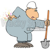 Male Worker with Back pain Clipart © Dennis Cox #4145