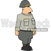 Military 5 Star General Standing Upright Clipart © Dennis Cox #4151