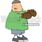 Boy Wearing Boxing Gloves Clipart © Dennis Cox #4159