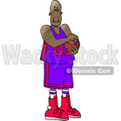 Professional African American Basketball Player Clipart © Dennis Cox #4165