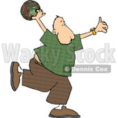 Man Throwing a Bowling Ball Clipart © djart #4167