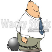 Convicted White Businessman Wearing a Ball and Chain Clipart © djart #4170