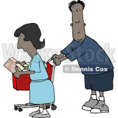 Ethnic Man and Woman Shopping Together in a Store Clipart © djart #4176