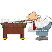 Businessman Playing a Game of Pool Clipart © djart #4179