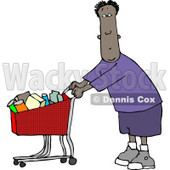 Ethnic Man Grocery Shopping at His Local Food Store Clipart © Dennis Cox #4190