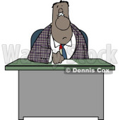 Ethnic Businessman Writing On Papers at His Office Desk Clipart © Dennis Cox #4195