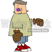 Black eye Boy Wearing Boxing Gloves Clipart © Dennis Cox #4213