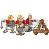 Roman Soldiers Armed with a Catapult Sword, and Ball & Chain Mace Clipart © Dennis Cox #4224