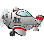Propelled Airplane in Flight Clipart © Dennis Cox #4226