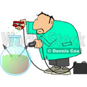 Male Scientist Experimenting with Chemicals Clipart © djart #4228
