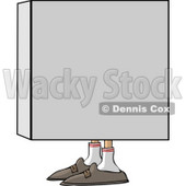 Man In a Box Clipart © Dennis Cox #4236