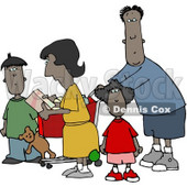 Ethnic Family Shopping Together at a Grocery Store Clipart © djart #4241