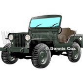 4wd Military Army Jeep Clipart © Dennis Cox #4243