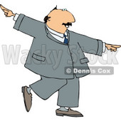 Successful, Happy Businessman Dancing Clipart © Dennis Cox #4245
