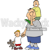 Dad Taking His Boys Out Today Clipart © Dennis Cox #4252