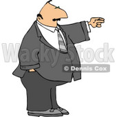 Businessman Pointing the Finger Clipart © djart #4253