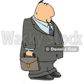 Businessman Wearing Suit & Tie and Carrying a Briefcase Clipart © djart #4254
