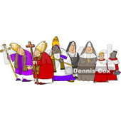 Group of Religious Nuns and Bishops Clipart © Dennis Cox #4265