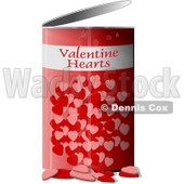 Can of Valentine Hearts Clipart © Dennis Cox #4270